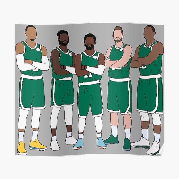 The Celtics' Big 5 Poster