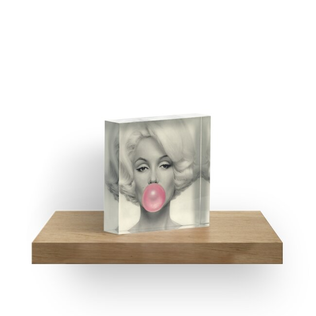 MARILYN MONROE : Bubble Blowing Print by posterbobs