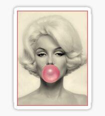 MARILYN MONROE : Bubble Blowing Print Sticker