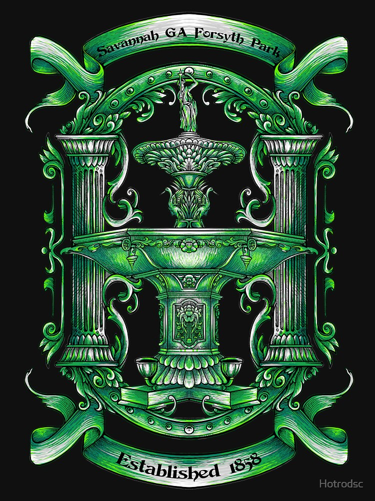 """Savannah Forsyth Fountain """" Greening of the Foutain ST. Patrick Day by Hotrodsc"""