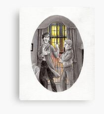 "Life is Infinitely Stranger"" - Sherlock and John - 221B version #  Canvas Print"