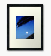 Palm Moon Framed Print