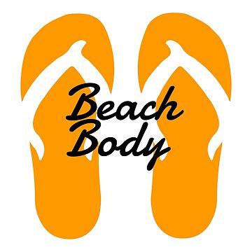 Beach Body Flip Flops by evlar
