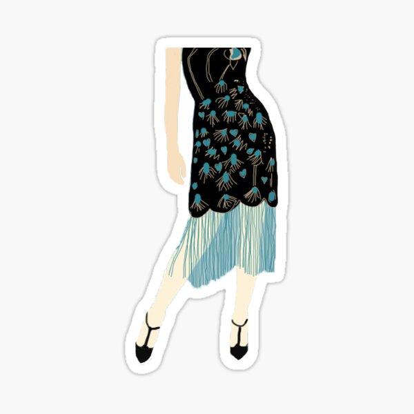 Flapper Dress Sticker