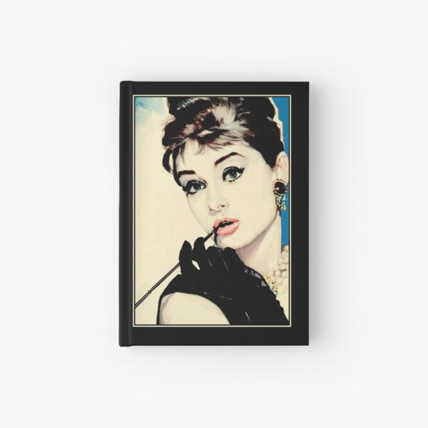 AUDREY HEPBURN : Vintage 1974 Breakfast at Tiffanys print  Hardcover Journal