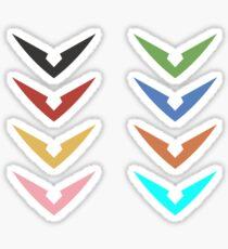 Voltron Sticker Set Sticker