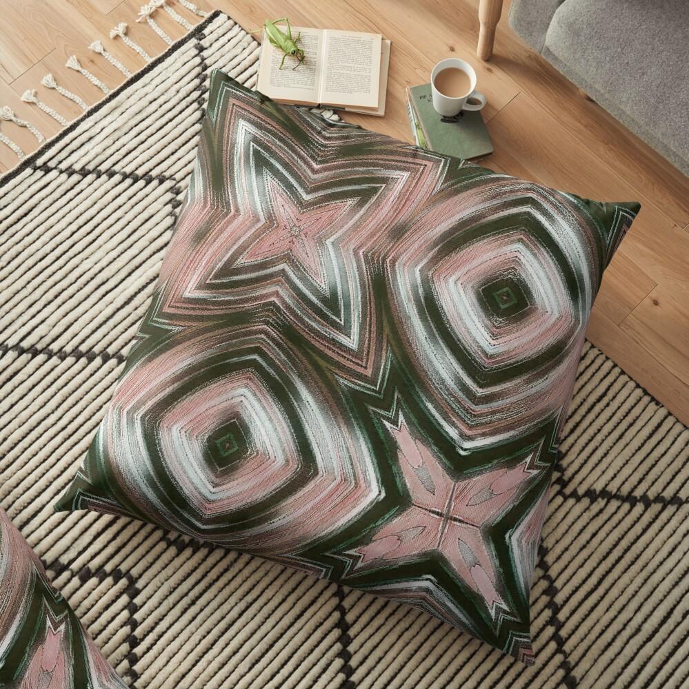 grey-pink Floor Pillow