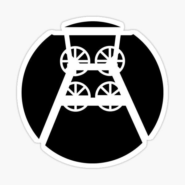 Ruhrpott Zeche Förderturm (b) Sticker