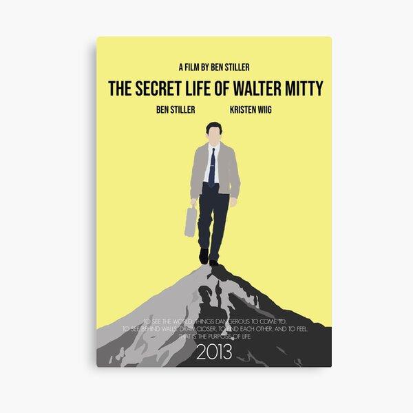 The Secret Life of Walter Mitty Minimalist Movie Poster Canvas Print
