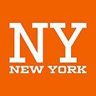 NY New York White by Chocodole