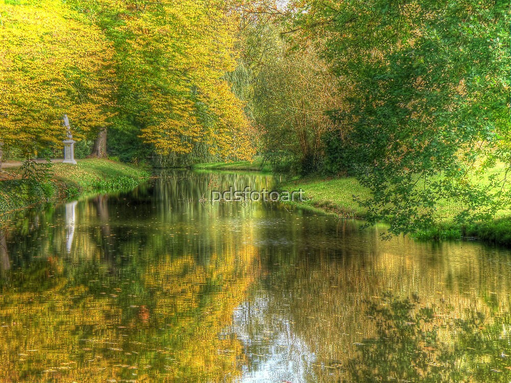 Path to the tea house Sansoucci Palace Potsdamn Germany by pdsfotoart