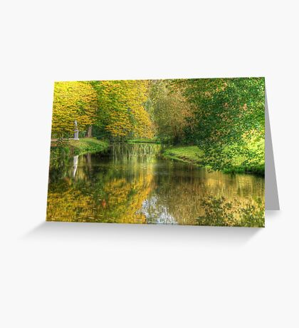 Path to the tea house Sansoucci Palace Potsdamn Germany Greeting Card