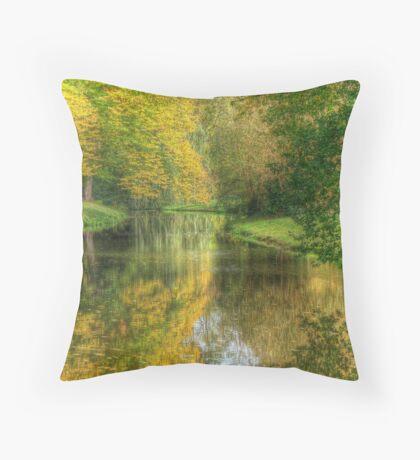 Path to the tea house Sansoucci Palace Potsdamn Germany Throw Pillow