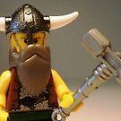 Thor Minifig Viking Custom Minifigure with Custom Beard  by Customize My Minifig