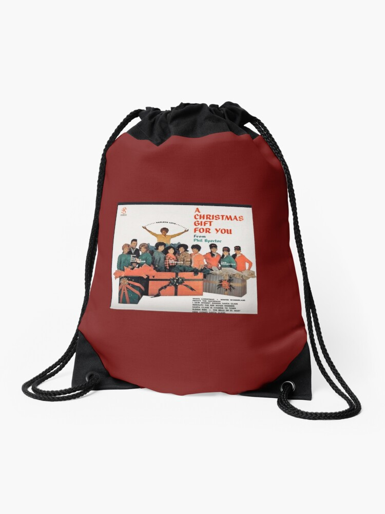 A Christmas Gift For You From Phil Spector.Phil Spector S A Christmas Gift To You Album Cover Drawstring Bag