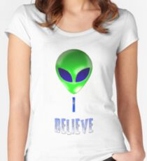 ** I Believe** Women's Fitted Scoop T-Shirt