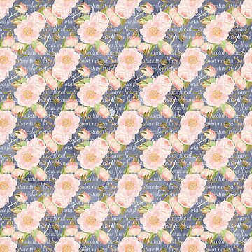 Watercolour - Blue Blush P1 | BLOOMS - FLORALS - GREENERY by mcaussieb