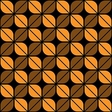 Geometric Pattern: Leaf: Orange/Black by redwolfoz