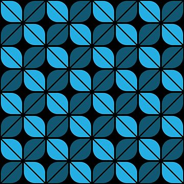Geometric Pattern: Leaf: Blue/Black by redwolfoz