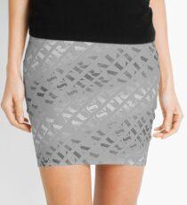 Illuminated Elegance (poster on white) Mini Skirt