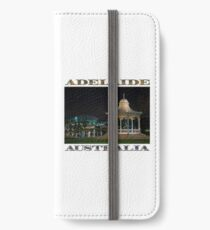 Illuminated Elegance (poster on white) iPhone Wallet/Case/Skin