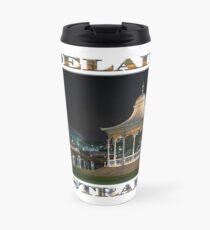 Illuminated Elegance (poster on white) Travel Mug