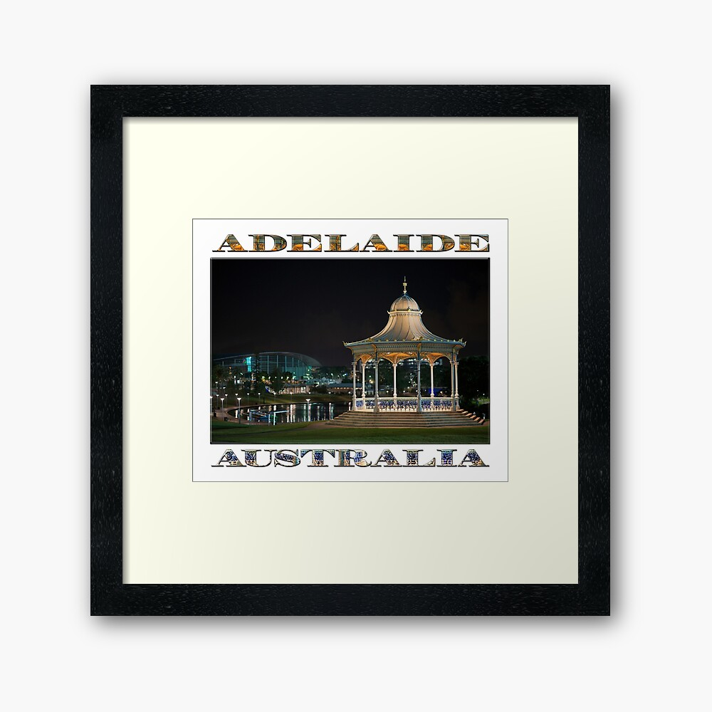 Illuminated Elegance (poster on white) Framed Art Print