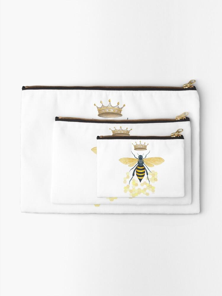 Alternate view of Queen Bee Zipper Pouch