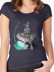 Rainbow Punk: Tirquoise Steam Women's Fitted Scoop T-Shirt