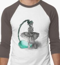 Rainbow Punk: Tirquoise Steam Men's Baseball ¾ T-Shirt