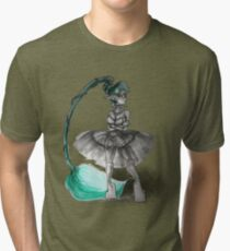 Rainbow Punk: Tirquoise Steam Tri-blend T-Shirt