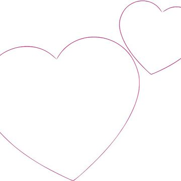 Hearts Outline (pink) by evelynnlee