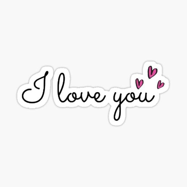 I love you Sticker