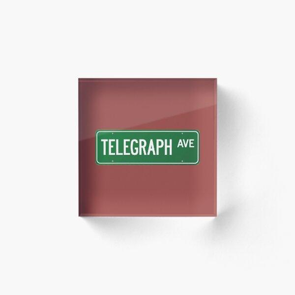Telegraph Ave. Street Sign Acrylic Block