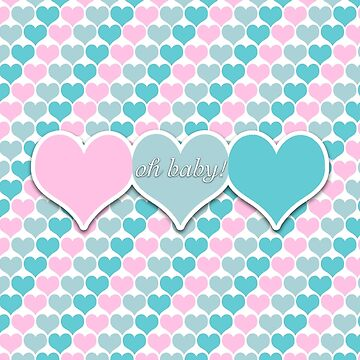 Oh Baby Hearts Pastel by 2HivelysArt