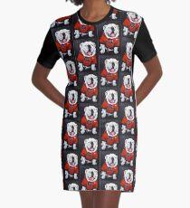 UGA Dog Painted Graphic T-Shirt Dress
