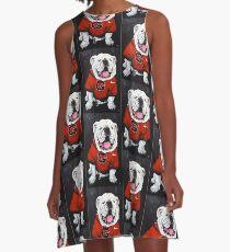 UGA Dog Painted A-Line Dress