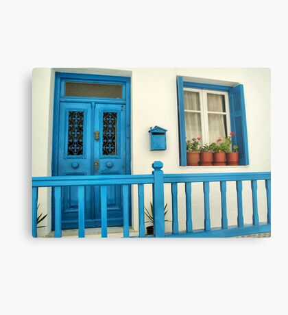 Traditional house in Mykonos Metal Print