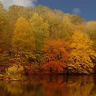 Autumn by the Lake by Marylou Badeaux