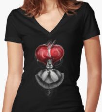 Rainbow Punk: Crimson Lolita Women's Fitted V-Neck T-Shirt