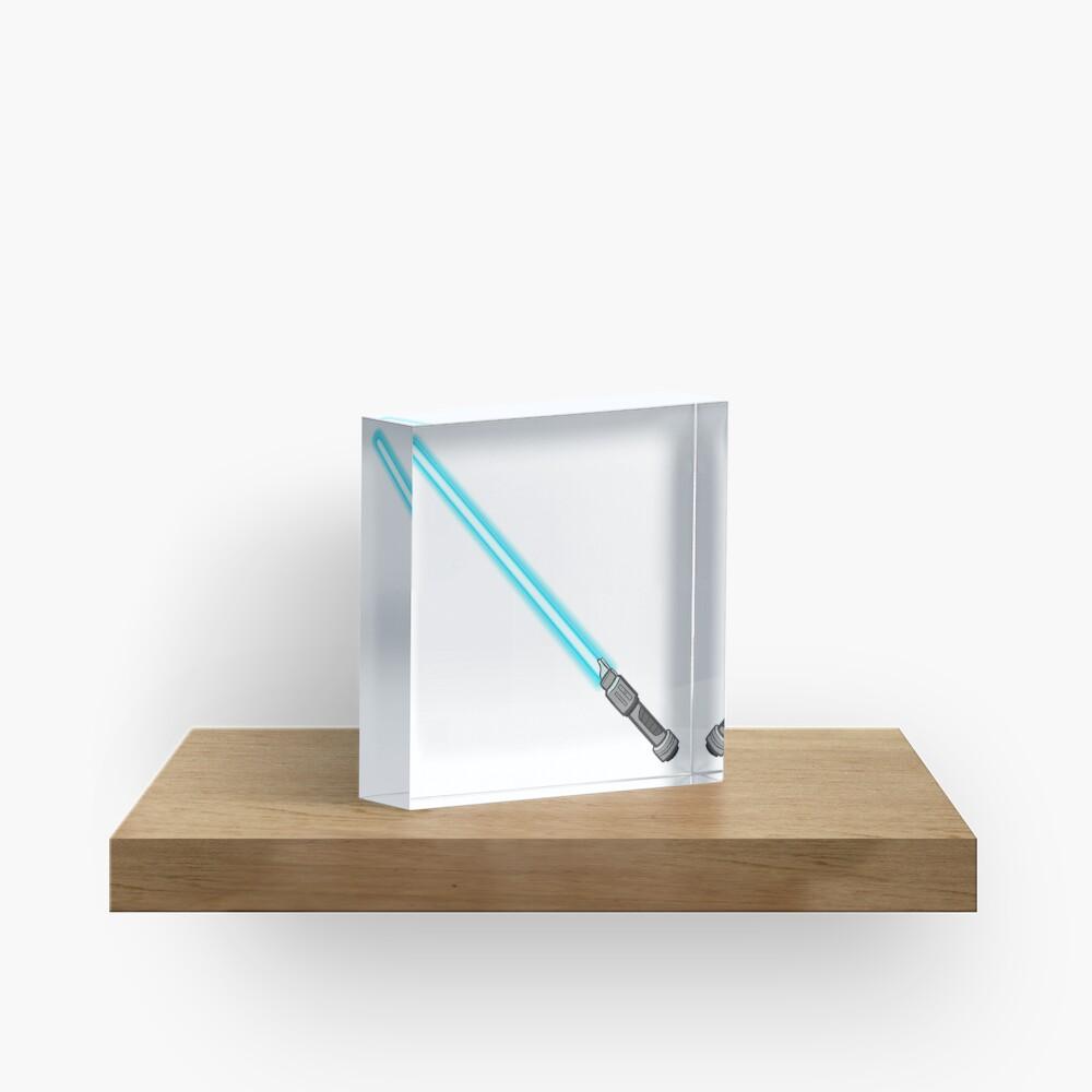 blue lightsaber  Acrylic Block
