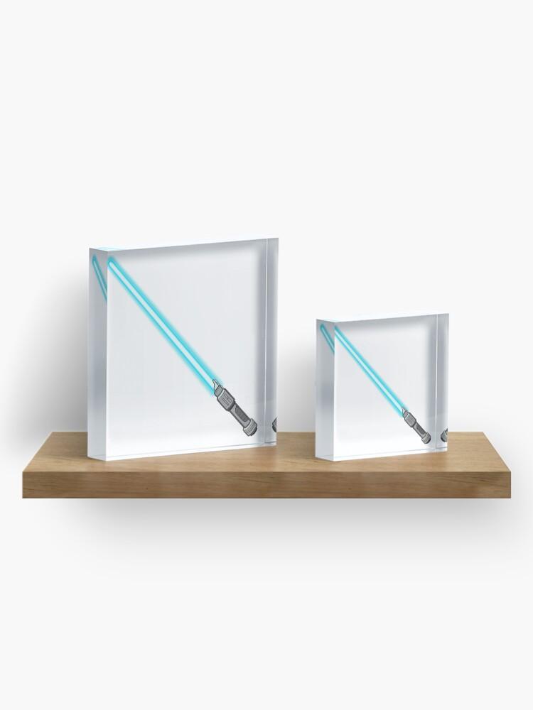 Alternate view of blue lightsaber  Acrylic Block
