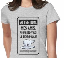 le bear polar sign/transparent Womens Fitted T-Shirt