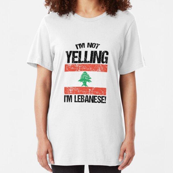 I'm Not Yelling I'm Lebanese V3 Slim Fit T-Shirt