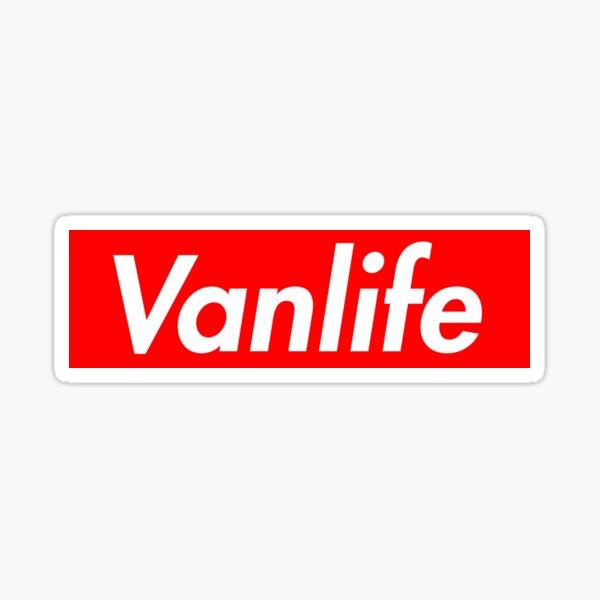 Logotipo de Vanlife Supreme Pegatina