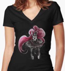 Rainbow Punk: Pinky Punk Women's Fitted V-Neck T-Shirt