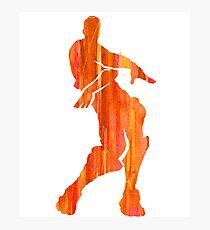 Orange Justice Fortnite Dance Shirt Sticker Print Photographic Print