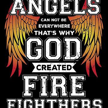 Fire fighter angels shirt by phskulmshirt
