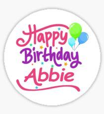 Happy Birthday Abbie Sticker