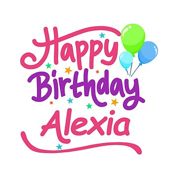 Happy Birthday Alexia by PM-Names